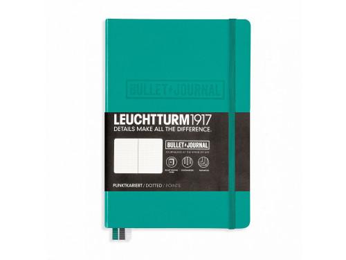 Notatnik Bullet Journal A5 - Leuchtturm - kropki, szmaragdowy, 80 g/m2