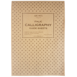 Archies Calligraphy Paper Italic 7.5mm Guide Sheet Pad of 50 Sheets