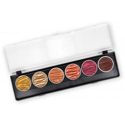 Set of 6 color watercolors - Earth - Coliro Pearl Colors