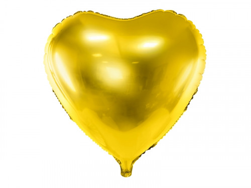 Foil balloon Heart - gold, 45 cm