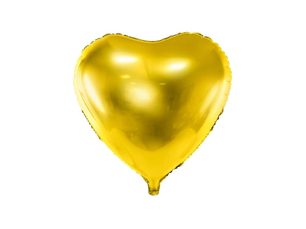Foil balloon Heart - gold, 45 cm
