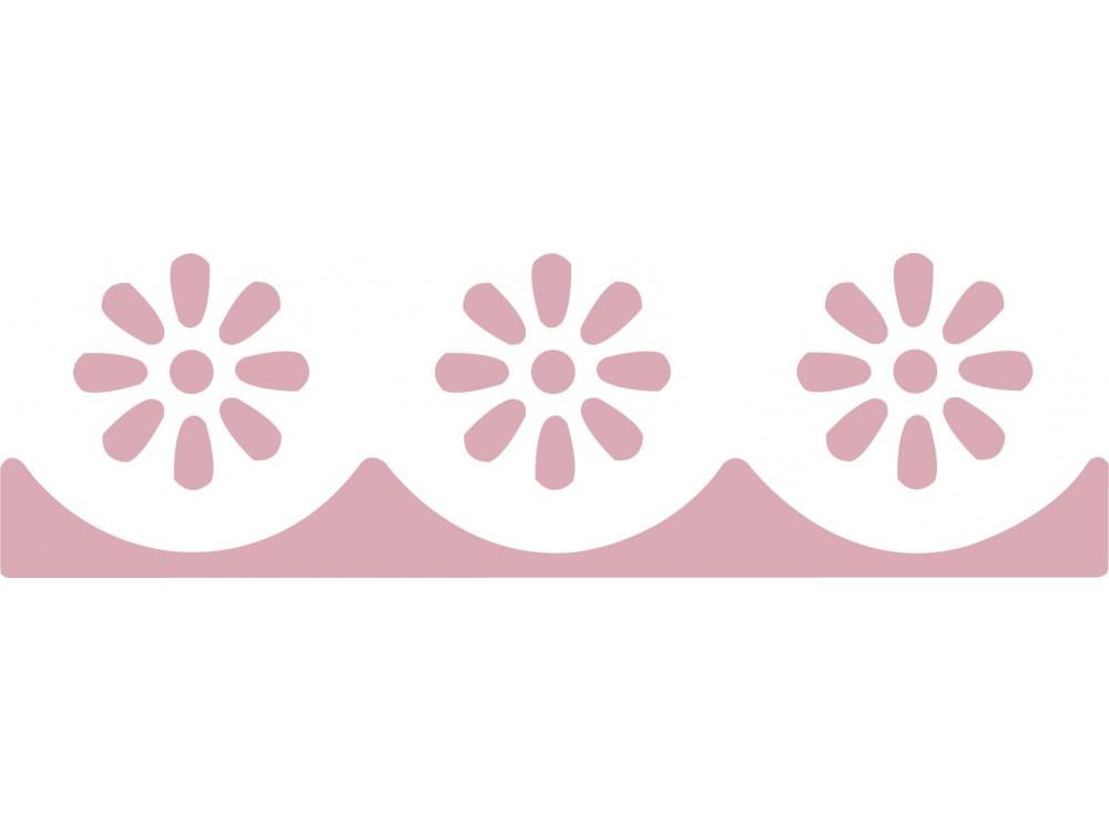 Dziurkacz ozdobny, brzegowy 4,5 cm - DpCraft - Szlaczek Stokrotki