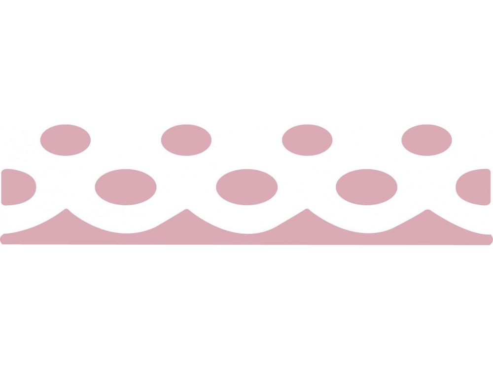 Dziurkacz ozdobny, brzegowy 4,5 cm - DpCraft - Serwetka kropki