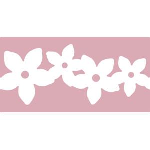 Dziurkacz brzegowy XL 6,3 cm 006 - Girlanda kwiatów