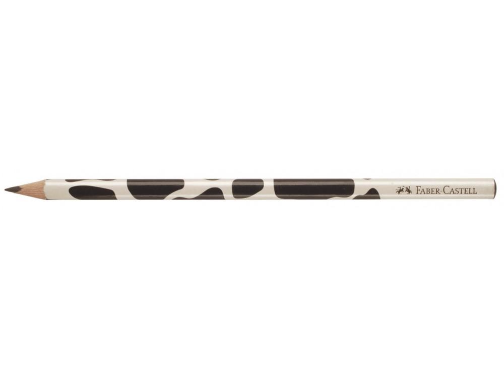 Ołówek trójkątny - Faber-Castell - motyw krowa