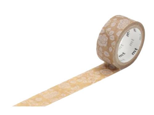 Taśma papierowa Washi - MT Masking Tape - Flower Motif