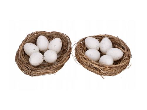 Naturalne gniazdka dekoracyjne z jajkami - 2 szt.