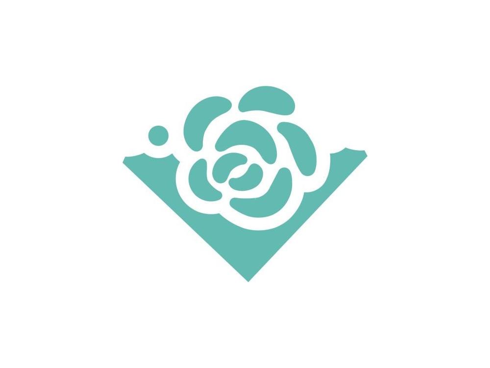 Dziurkacz ozdobny, narożnikowy 3,7 cm - DpCraft - Róża