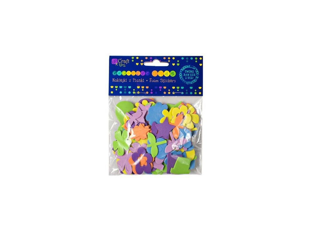 Foam stickers - DpCraft - daisies, 120 pcs.