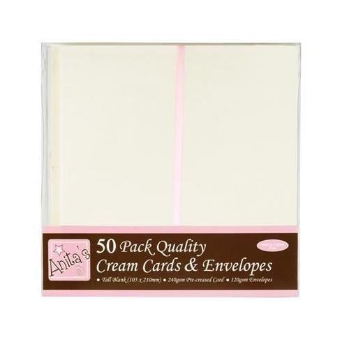 Zestaw kremowych kopert i kart Anita's DL 50 szt.