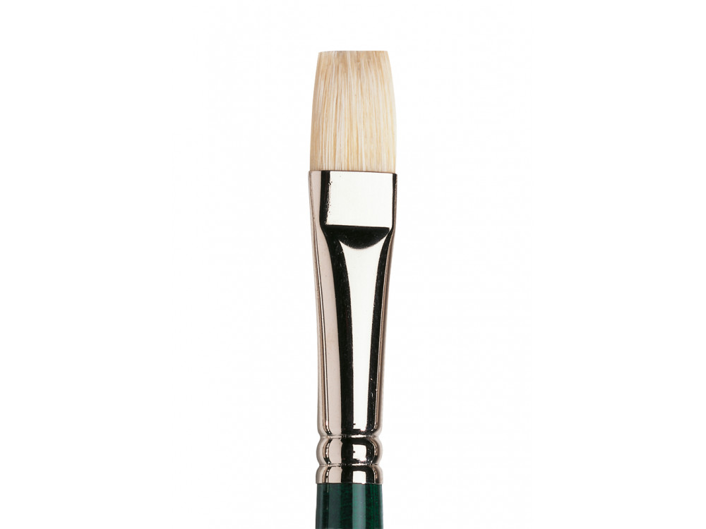 Short flat, hog Winton brush - Winsor & Newton - short handle, no. 8