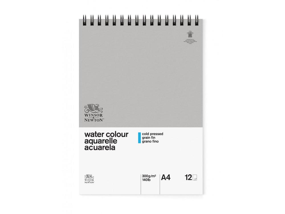 Watercolor spiral pad A4 - Winsor & Newton - cold press, 300g, 12 sheets