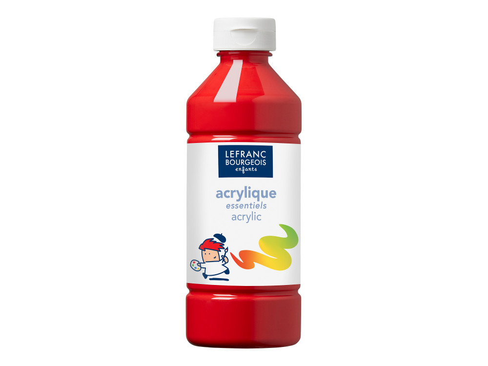 Acrylic paint - Lefranc & Bourgeois - primary red, 500 ml
