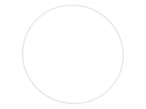 Metal hoop, base for garlands, wreaths and dream catchers - white, dia. 40 cm