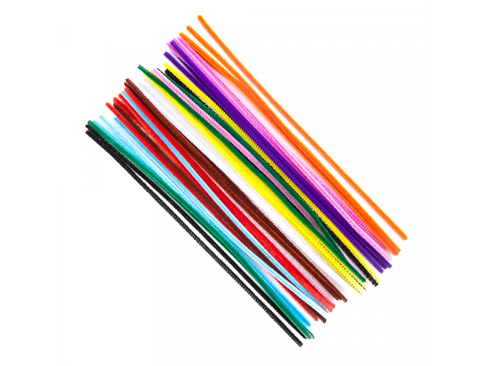 Chenille Stems - DpCraft - colorful, 30 cm, 40 pcs.