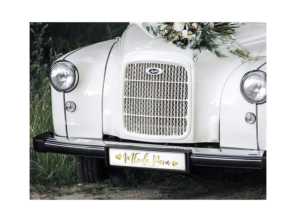License plate Młoda Para - gold
