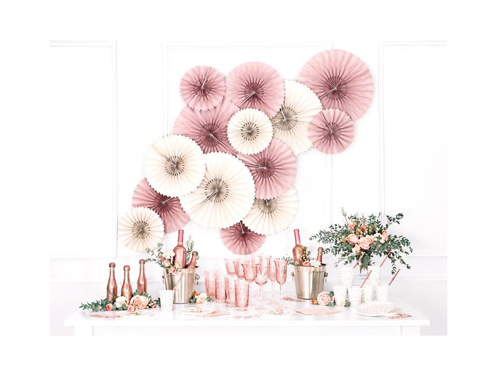 Decorative rosettes - cream, 3 pc.