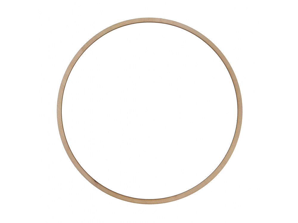 Wooden hoop, base for wreaths, macrames and dream catchers - Simply Crafting - dia. 40 cm