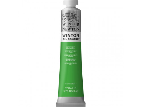 Oil paint Winton - Winsor & Newton - permanent green light, 200 ml