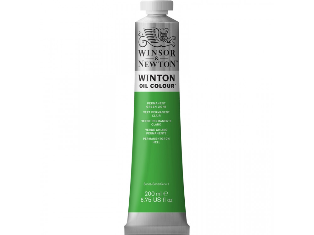 Oil paint Winton - Winsor & Newton - permanent green light, 200 ml