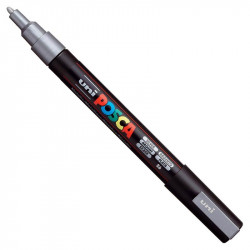 Uni Posca Paint Marker Pen PC-3M - Silver