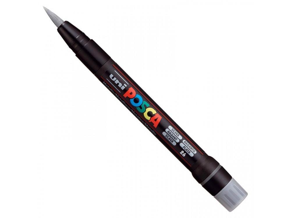 Marker pędzelkowy Posca PCF-350 - Uni - silver