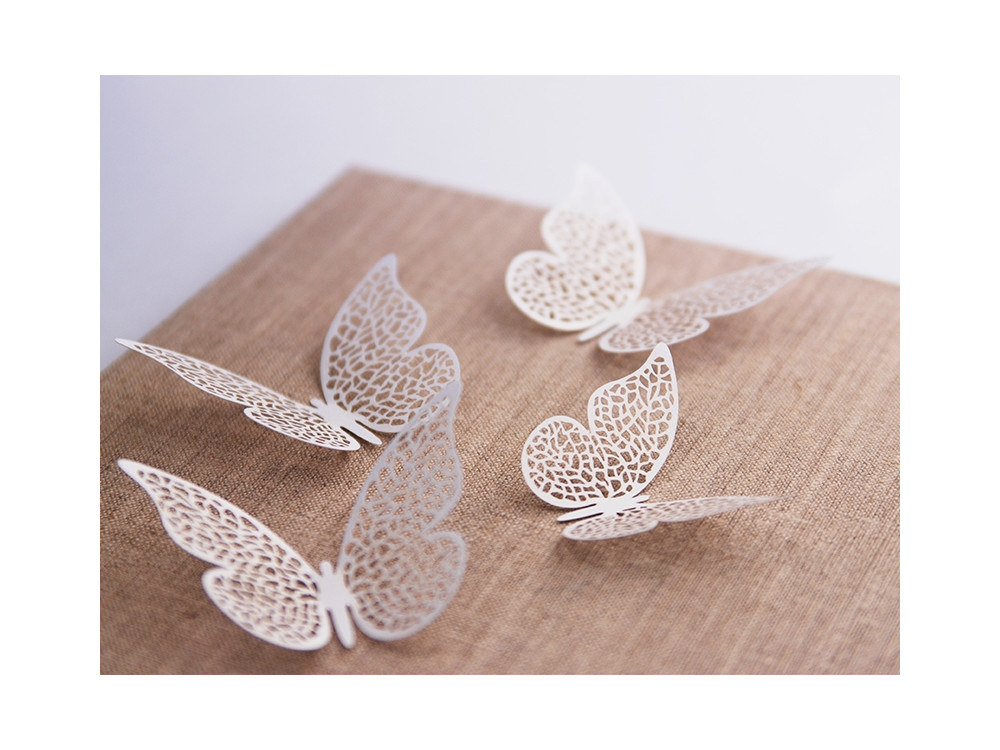Paper Decorations Butterfly, 6.5 x 4cm, 10 pcs