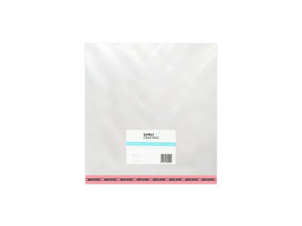 Torebki, woreczki foliowe z klejem - Simply Crafting - 35 x 35 cm, 100 szt.