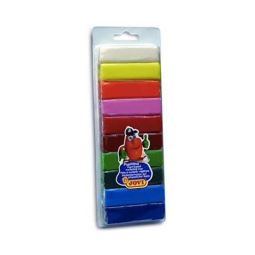 Plastelina w pudełku 10 kolorów x 25 g Jovi