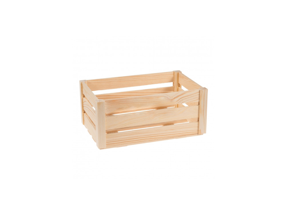 Wooden box chest - small