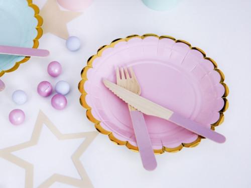 Plates 18 cm, light pink