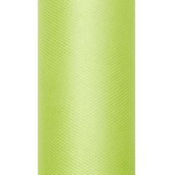 Tiul dekoracyjny 15 cm - jasnozielony, 9 m