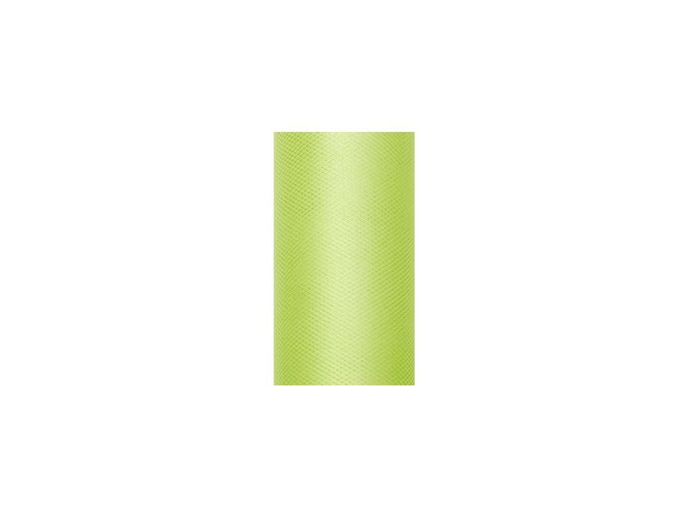 Tiul dekoracyjny 30 cm - jasnozielony, 9 m