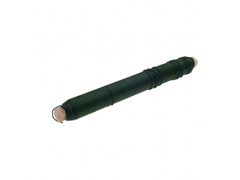 Decorative Wrap wire on spool 38 m 100 g green