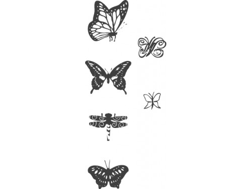 Set of Stamps Butterflies, Heyda 6 pcs