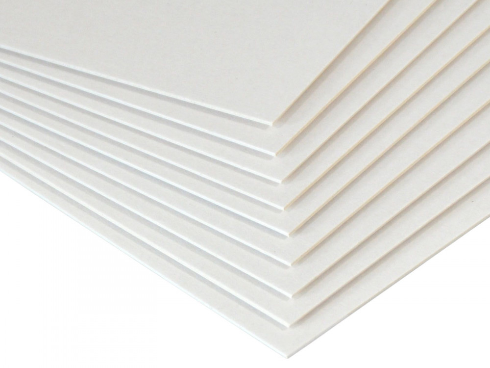 Bookbinding cardboard 1,2 mm - Beermat - white, A5, 20 sheets