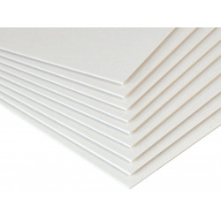 Bookbinding cardboard 1,5 mm - Beermat - white, A6, 20 sheets