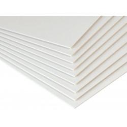 Bookbinding cardboard 1,5 mm - Beermat - white, B2, 20 sheets