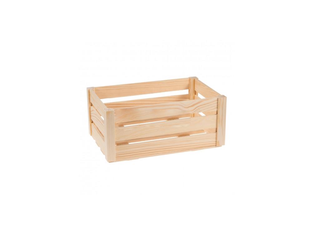 Skrzynka z listewek średnia drewniana