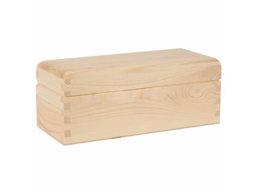 Pojemnik drewniany na herbatę, herbaciarka - 3 przegrody