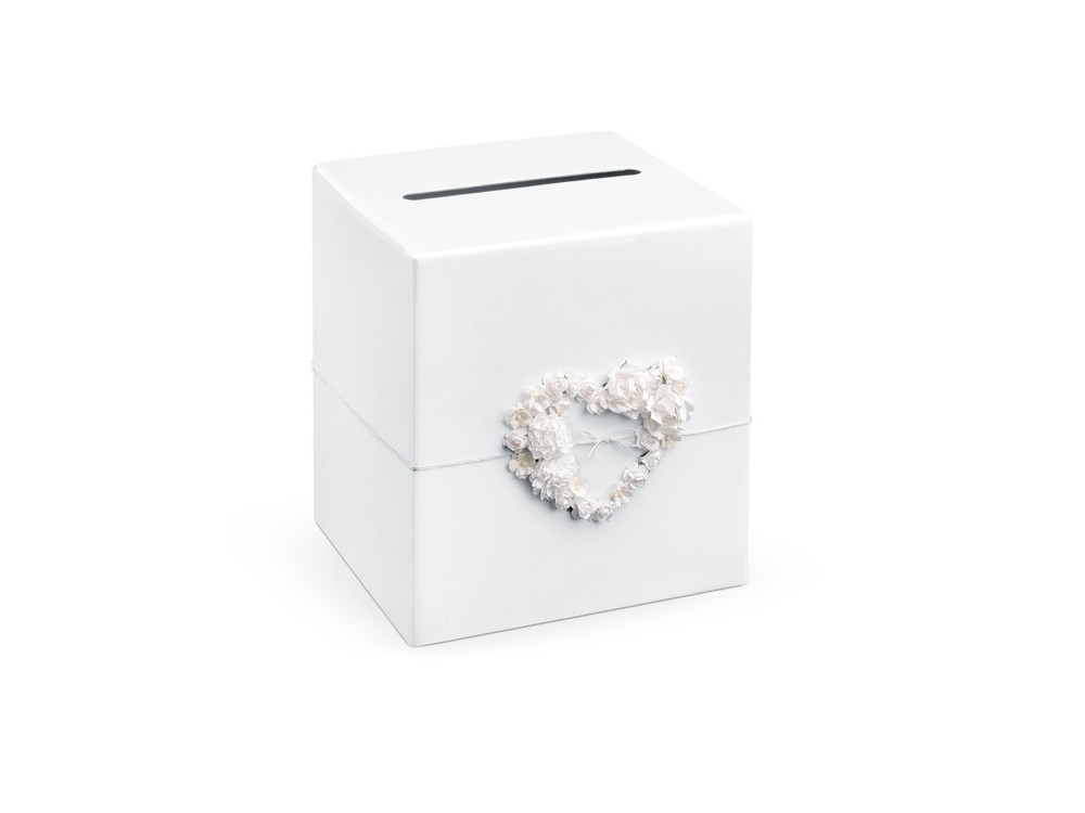 Wedding card box, 24 x 24 x 24cm, 1pc, pearl white