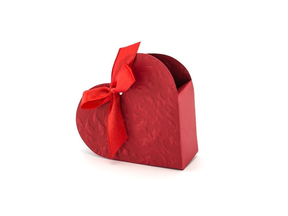Pudełeczka dla gości Serce - czerwone, 10 szt.