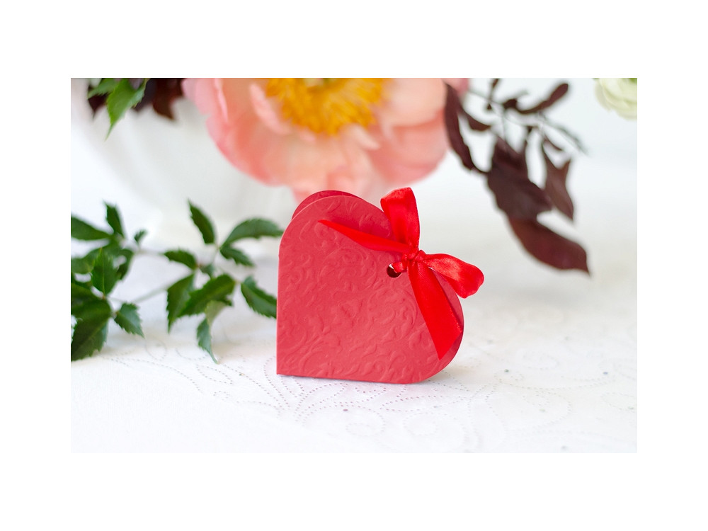 Boxes Heart, red, 10 pcs