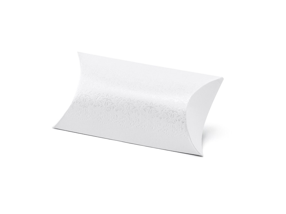Boxes with ornament, white, 10 pcs
