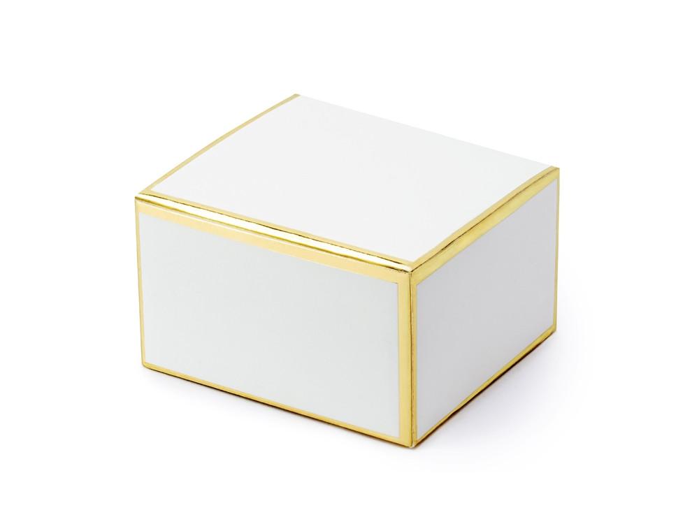White boxes, golden edges