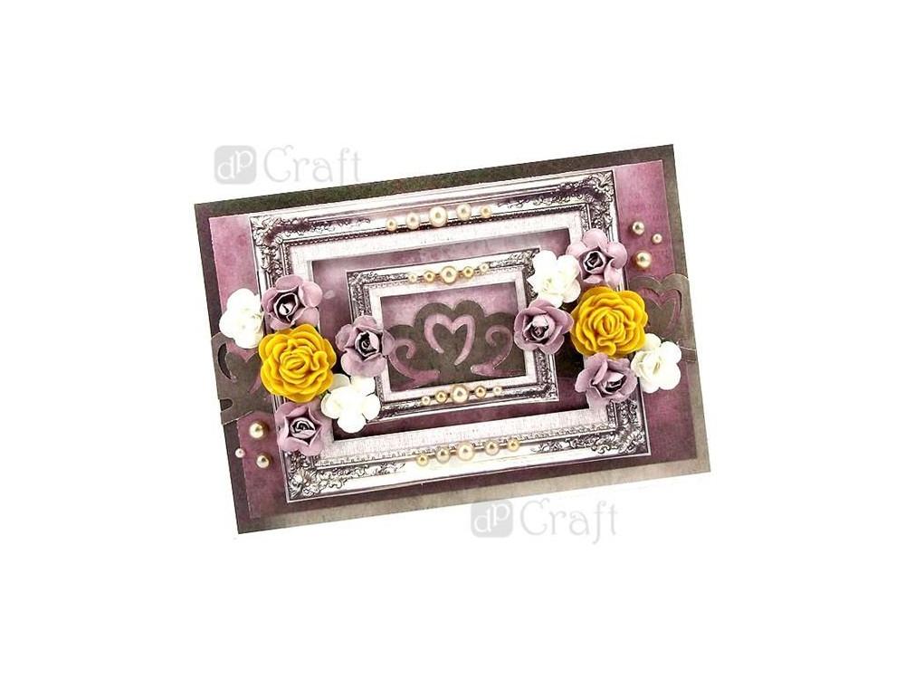 Kwiaty papierowe Róże - DpCraft - miętowe, 16 szt.