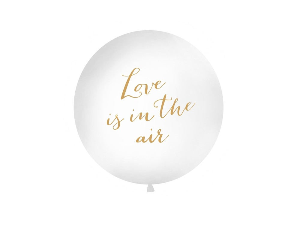 Giant balloon Love is in the air - gold lettering, 1 m