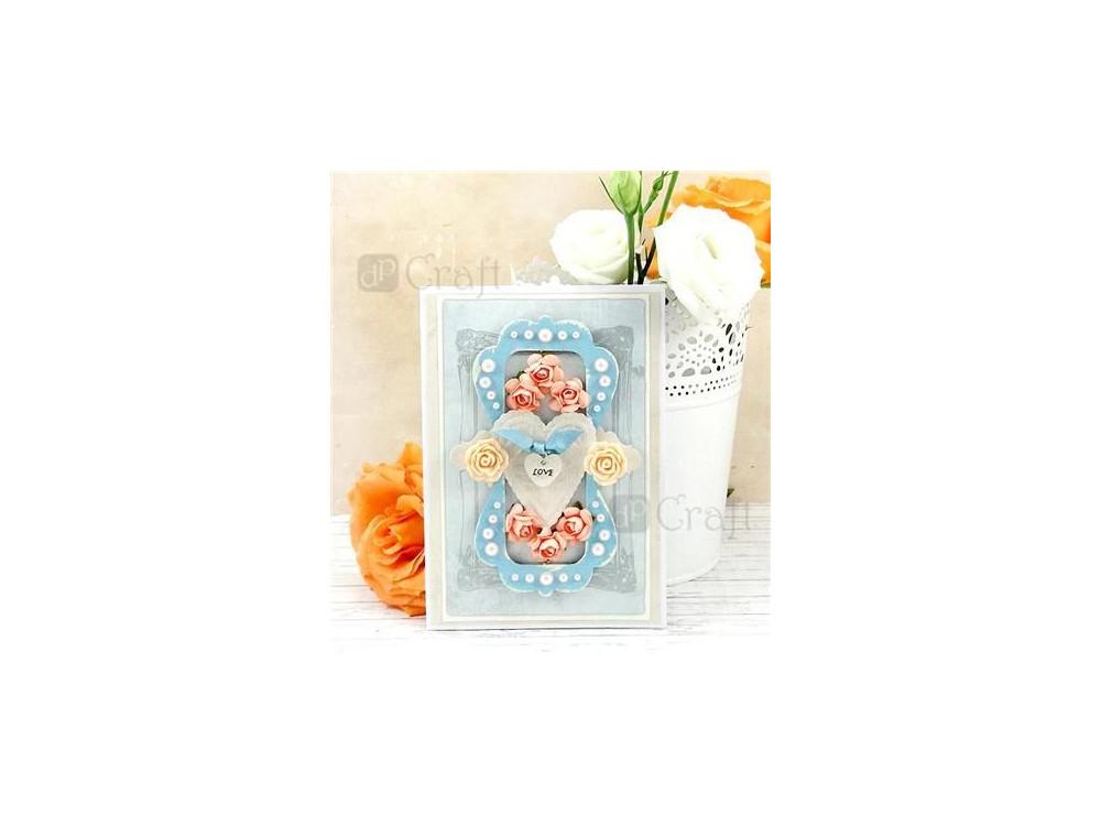 Adhesive Resin Flowers - DpCraft - Silk Pastels, 9 pcs.