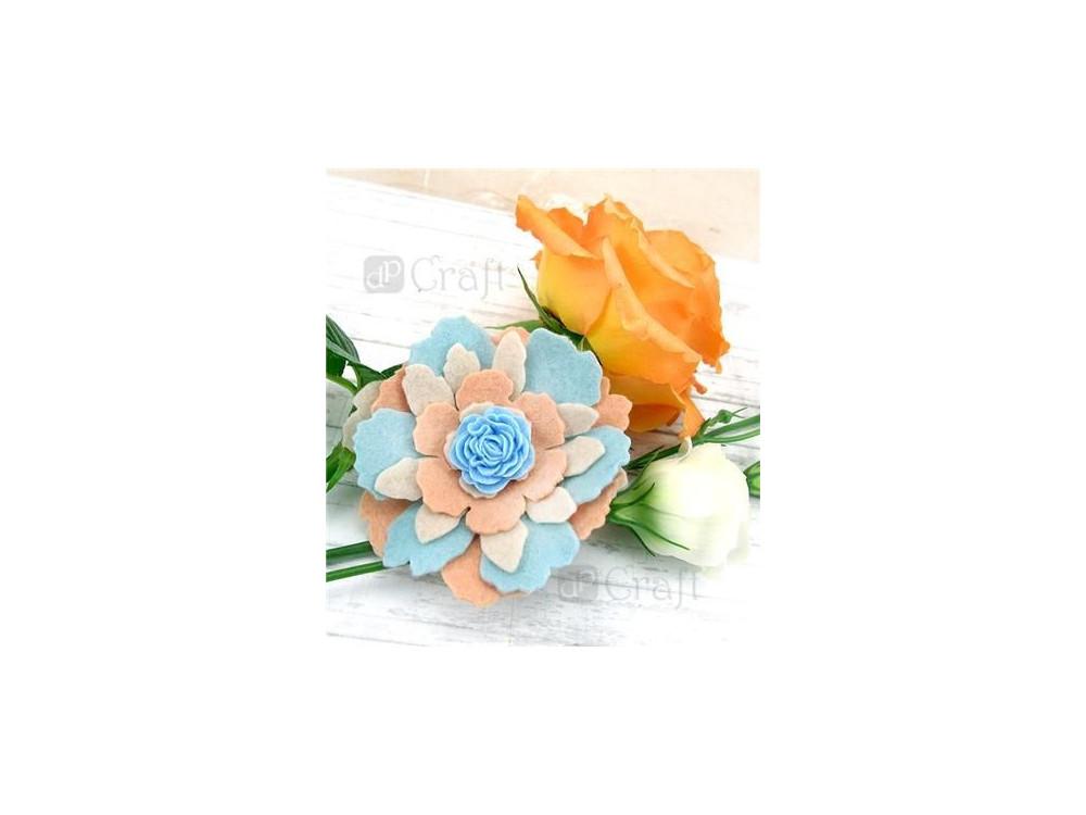 Kwiaty samoprzylepne z żywicy - DpCraft - Silk Pastels, 9 szt.