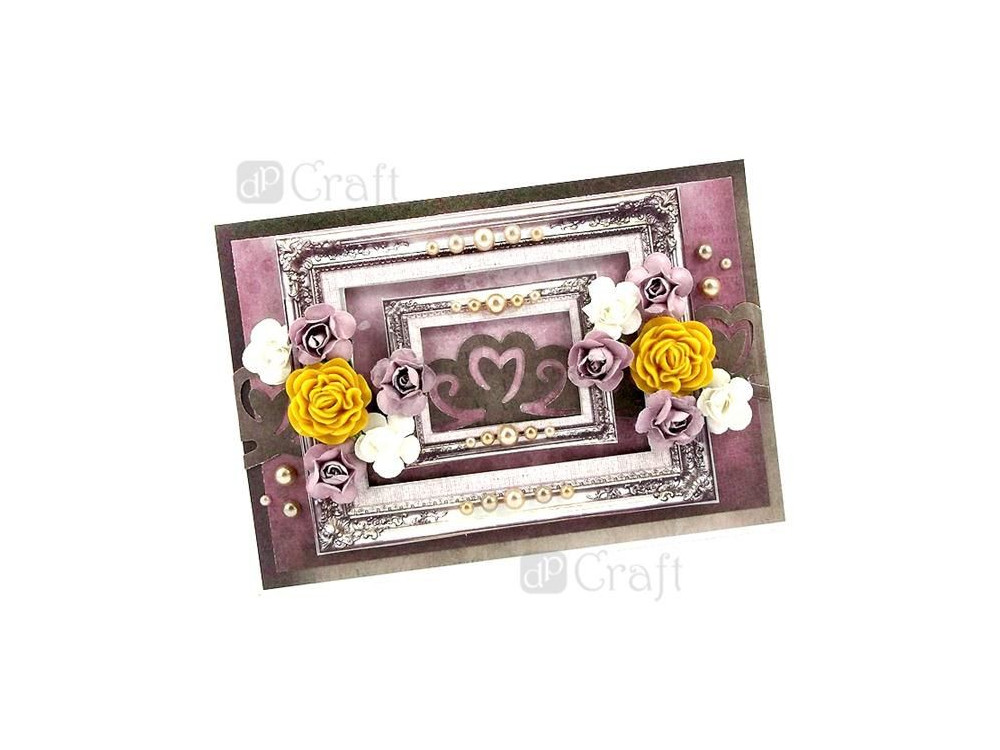 Adhesive Resin Flowers - DpCraft - Vintage Caramel, 9 pcs.